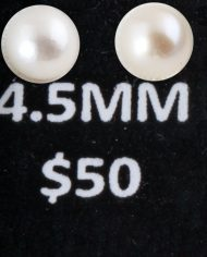 4.5 MM Pearl Studs small