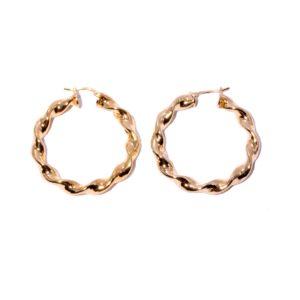 Bronze Twisted Hoop Earrings